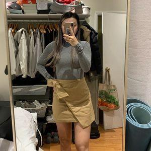 Aritzia Wrap Front Skirt